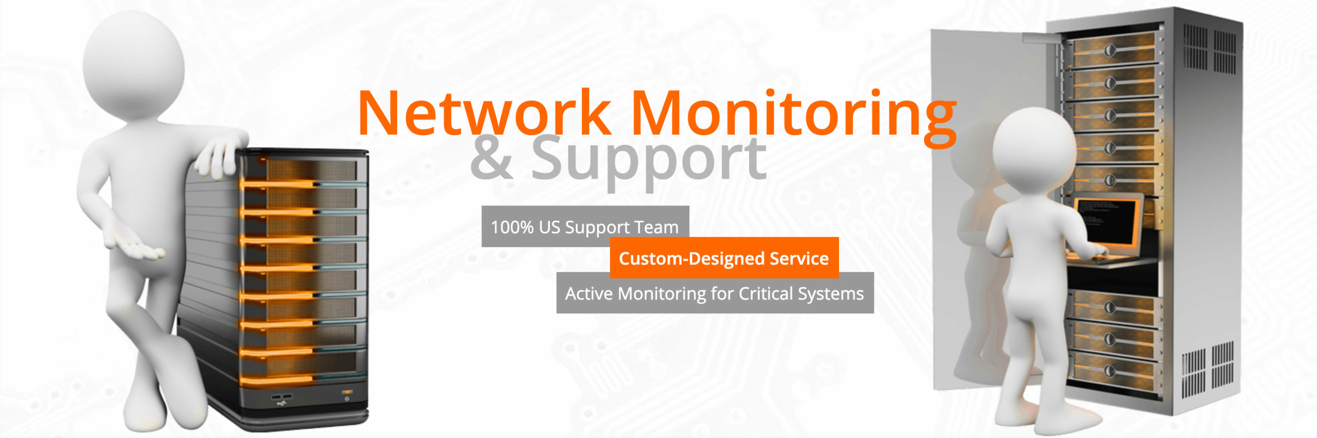 Inc-Sys Network Monitoring & Support | Active monitoring for critical systems from our US based support team | Custom designs available